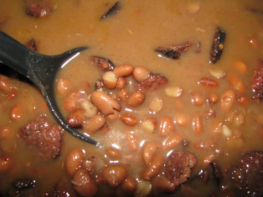 Pintos and Feral hog sausage