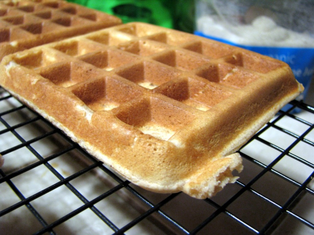 Glorious, golden waffles